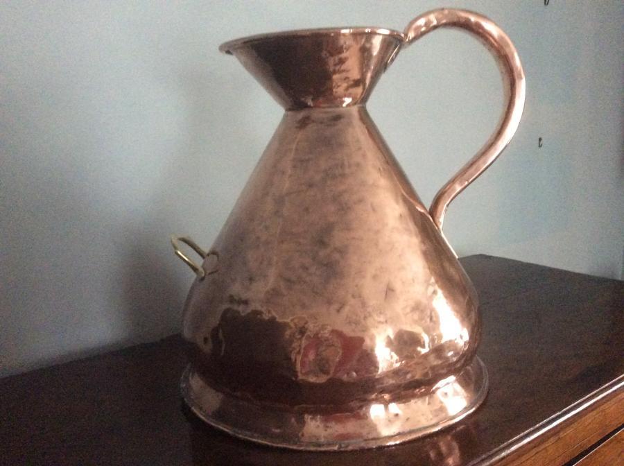Four gallon 19th century copper measure
