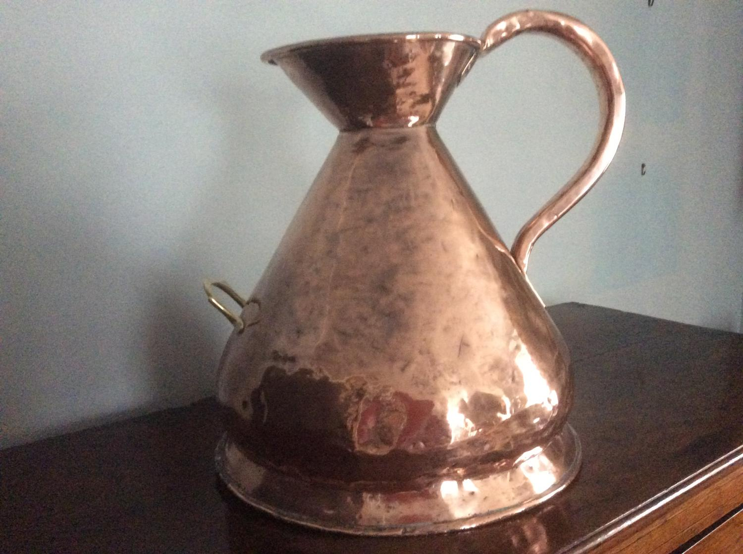 Four gallon 19th century copper measure