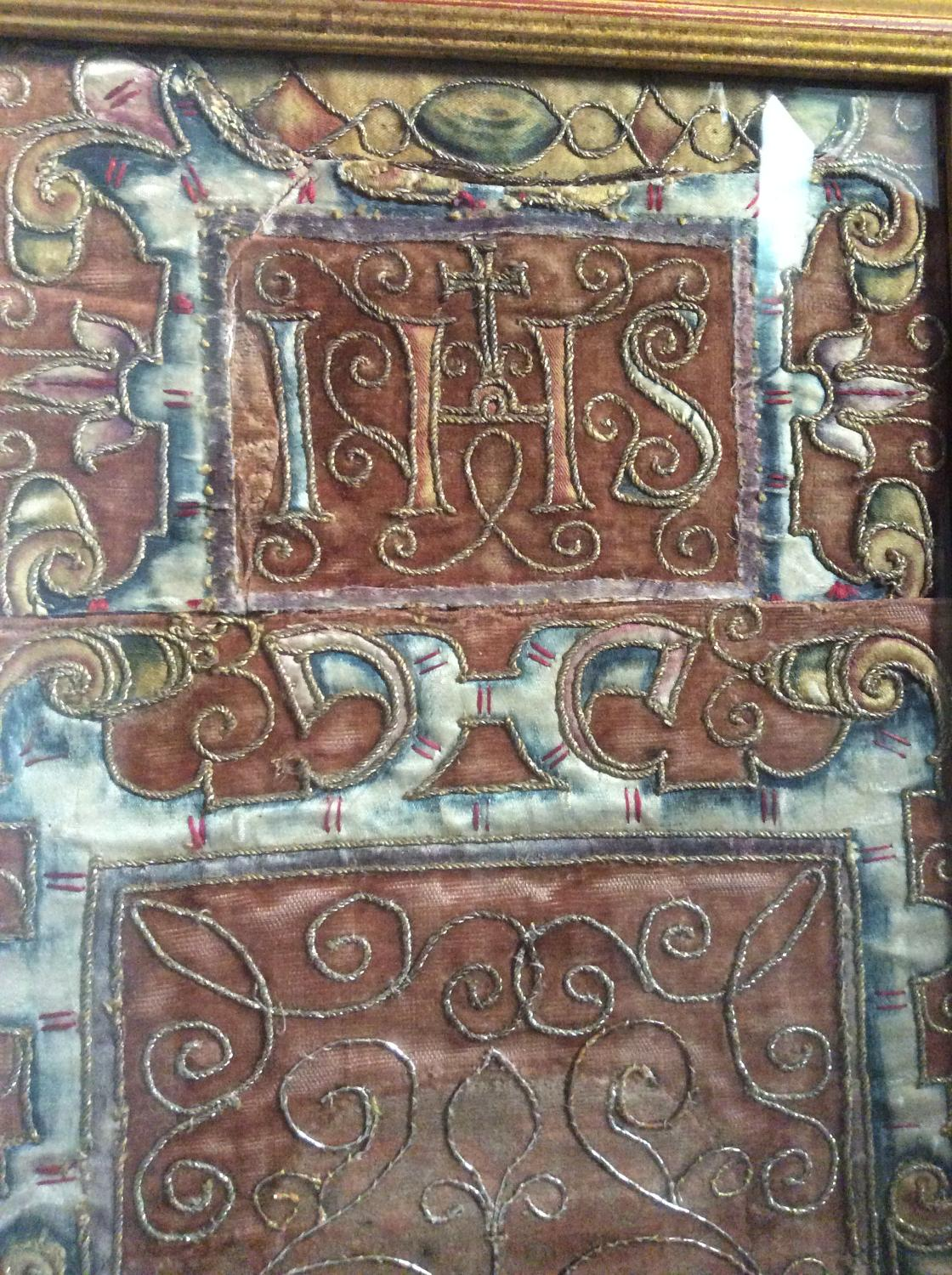 17th Century French tapestry fragment