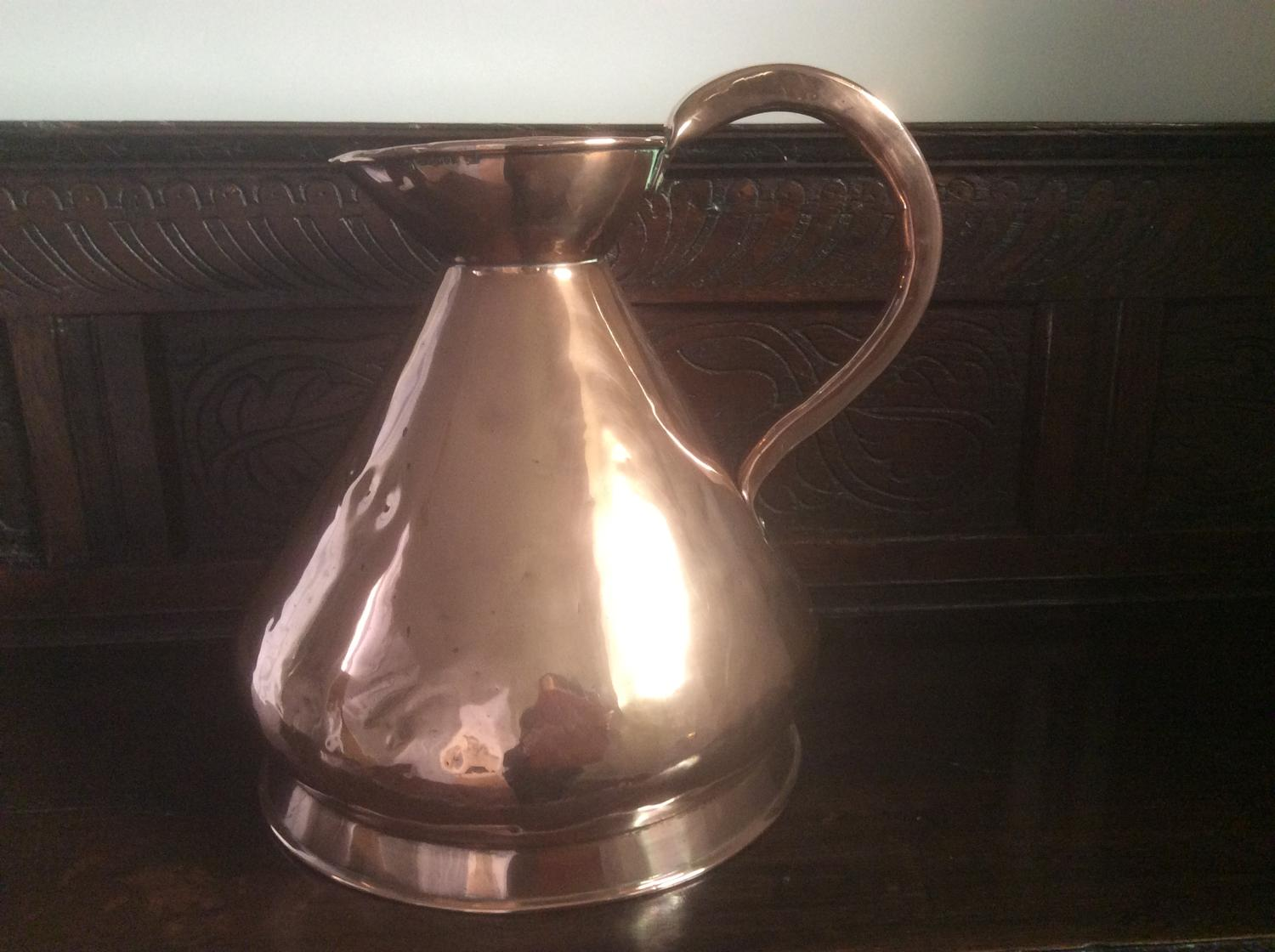 19th century copper two gallon measure
