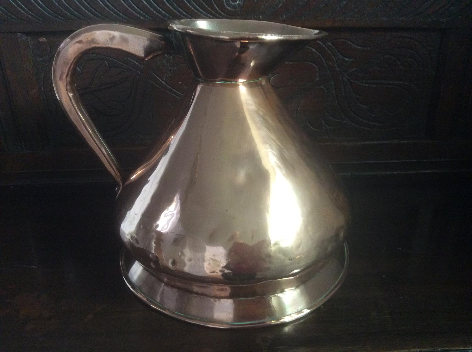 19th century one gallon copper measure