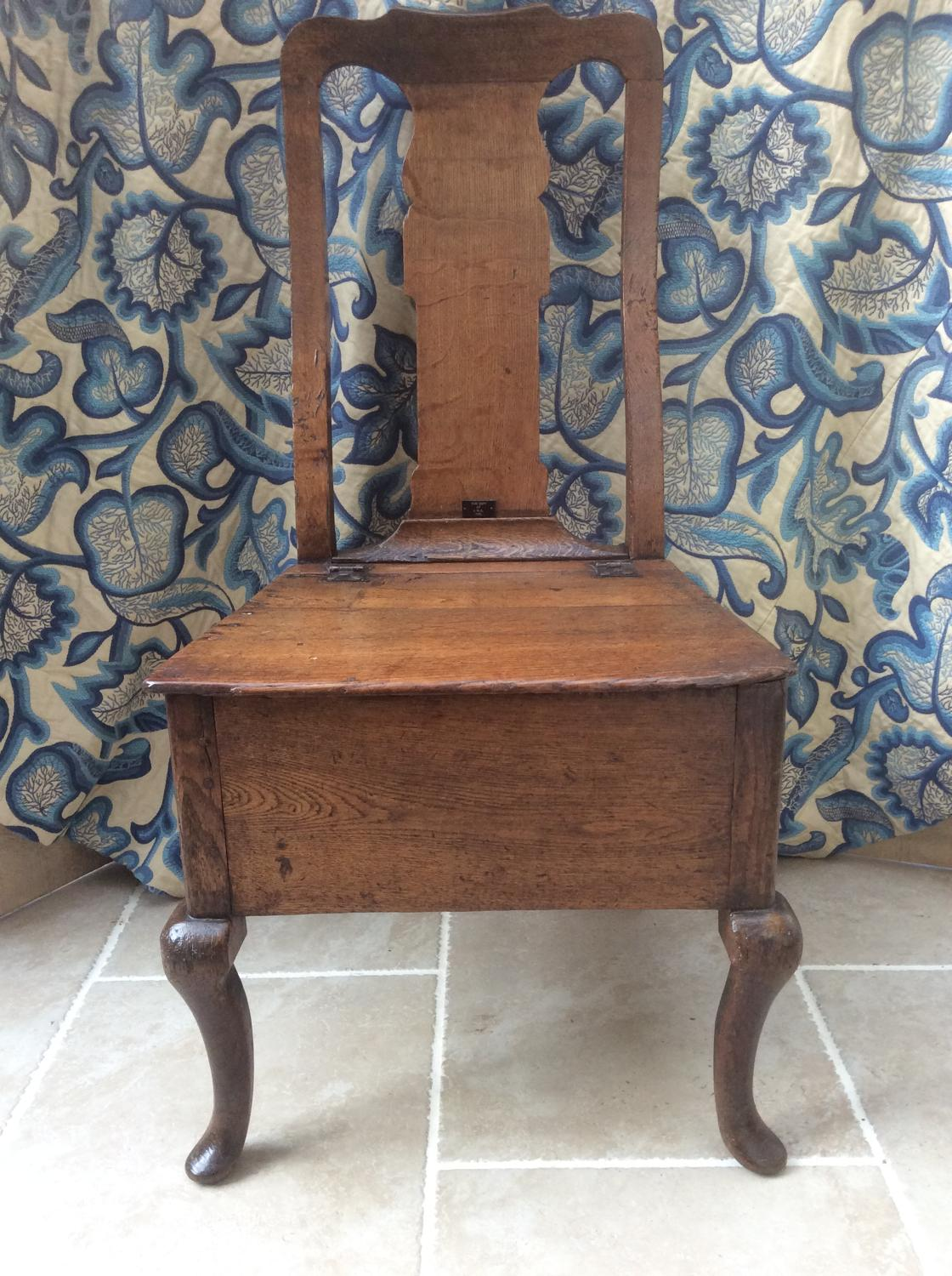 English oak 18th century chair