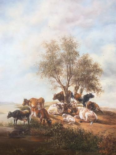 19th century English school pastoral scene
