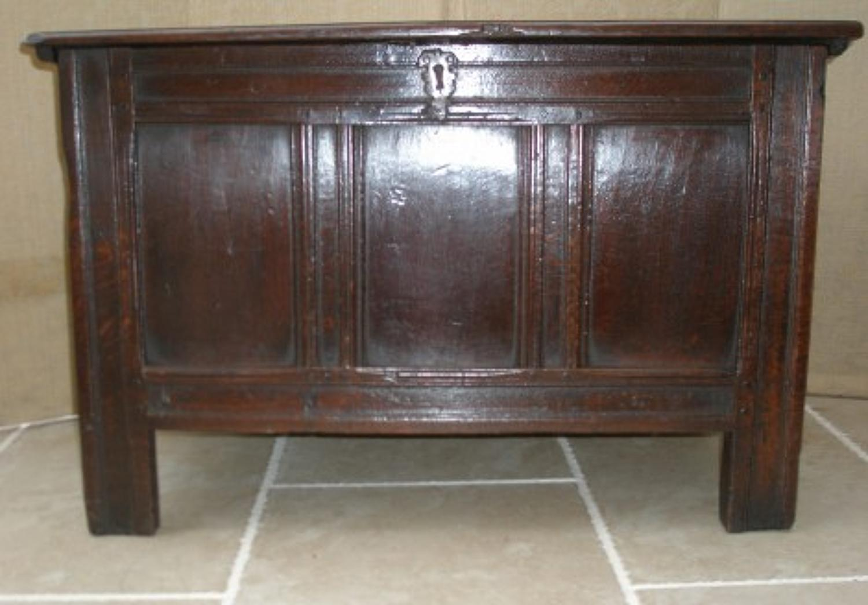 17th century panel coffer