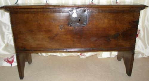 17th century boarded chest