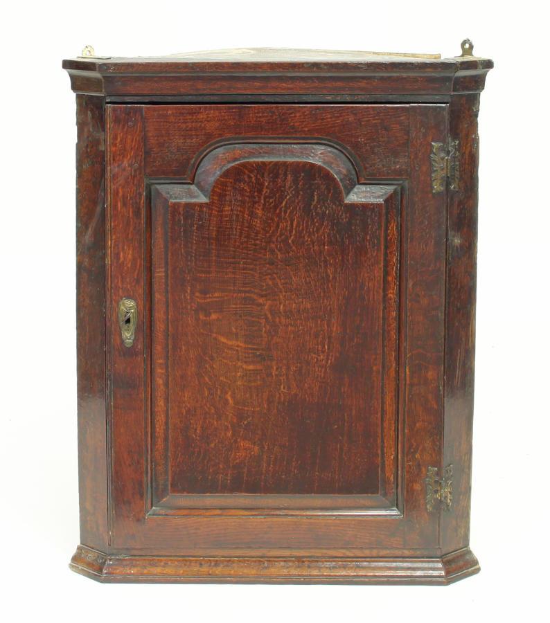 18th century Georgian oak corner cupboard