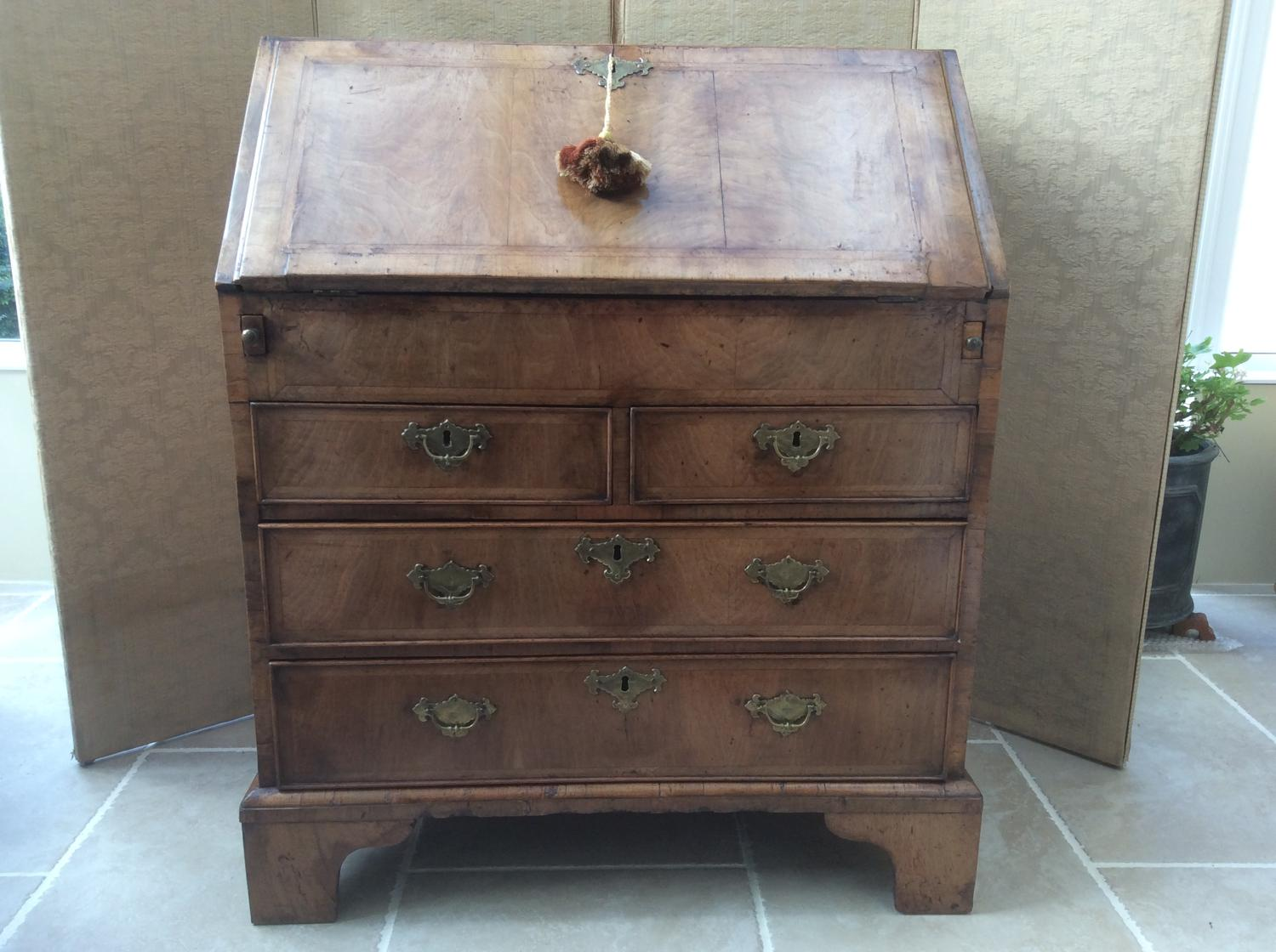 18th century walnut bureau