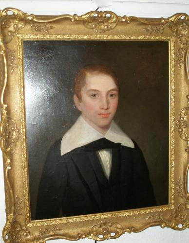 19th century oil on canvas portrait