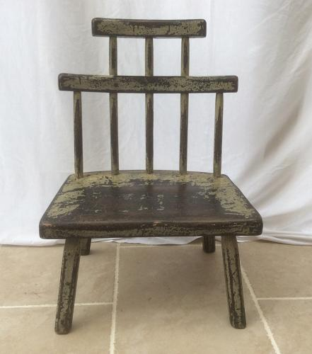 Welsh comb back low chair