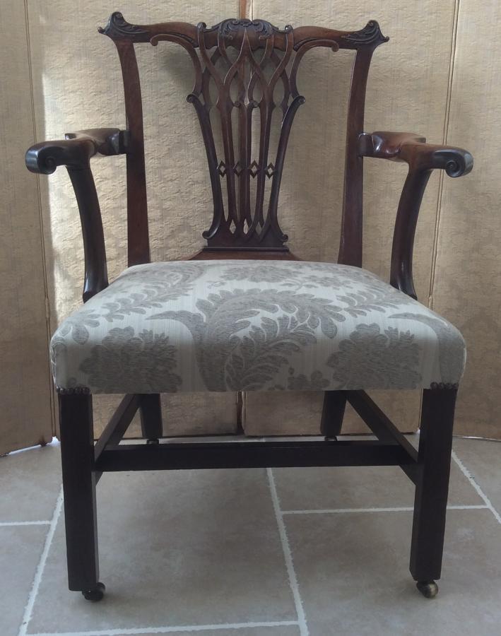 George II mahogany elbow chair