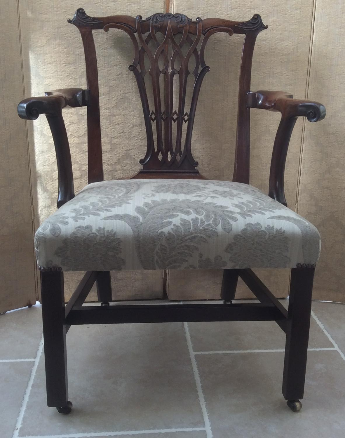 George II mahogany elbow chair