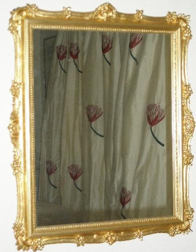 Decorative gilt mirror