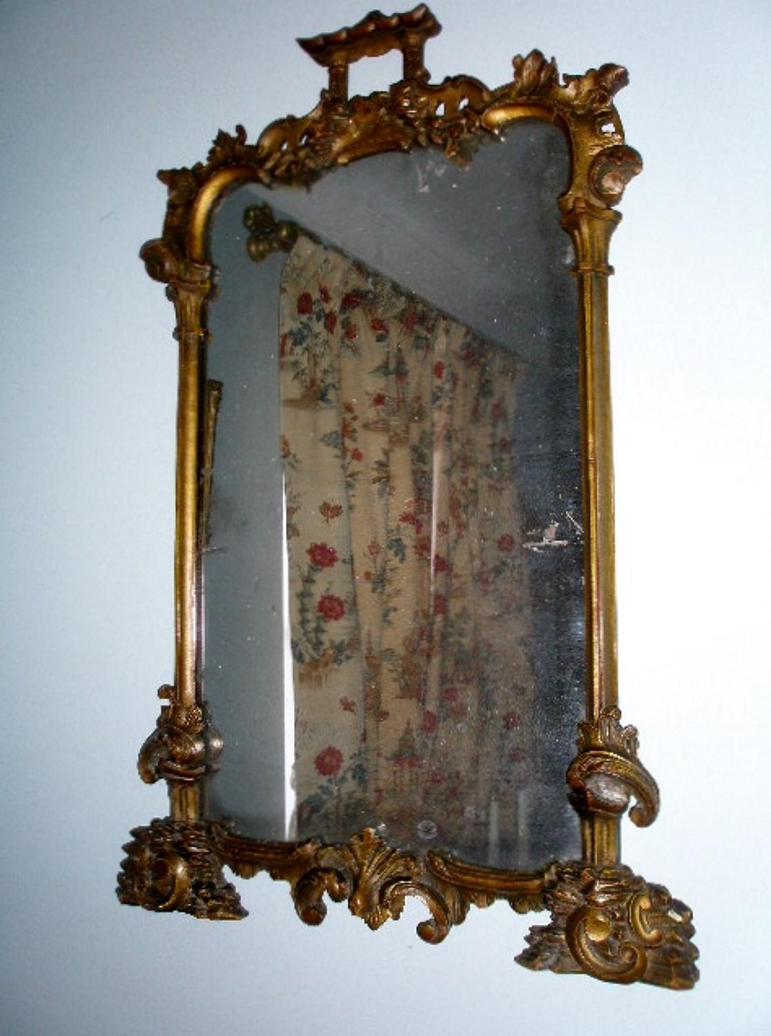 18th century giltwood mirror