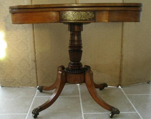 Regency period card table