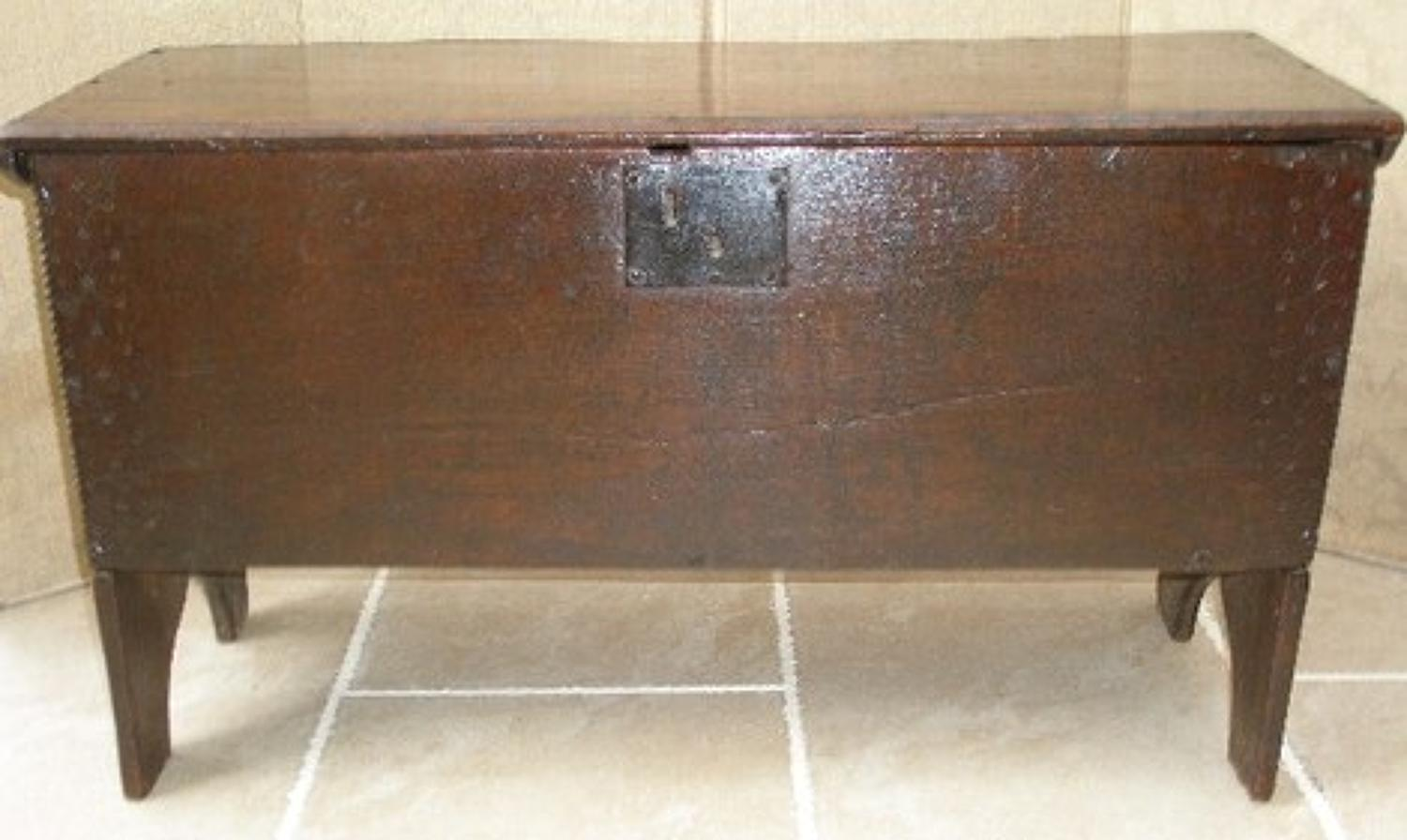 17th century oak boarded chest