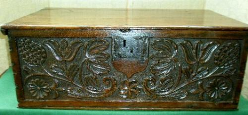 17th century oak bible box