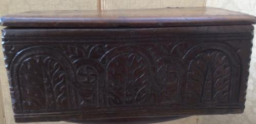 17th century small boarded box