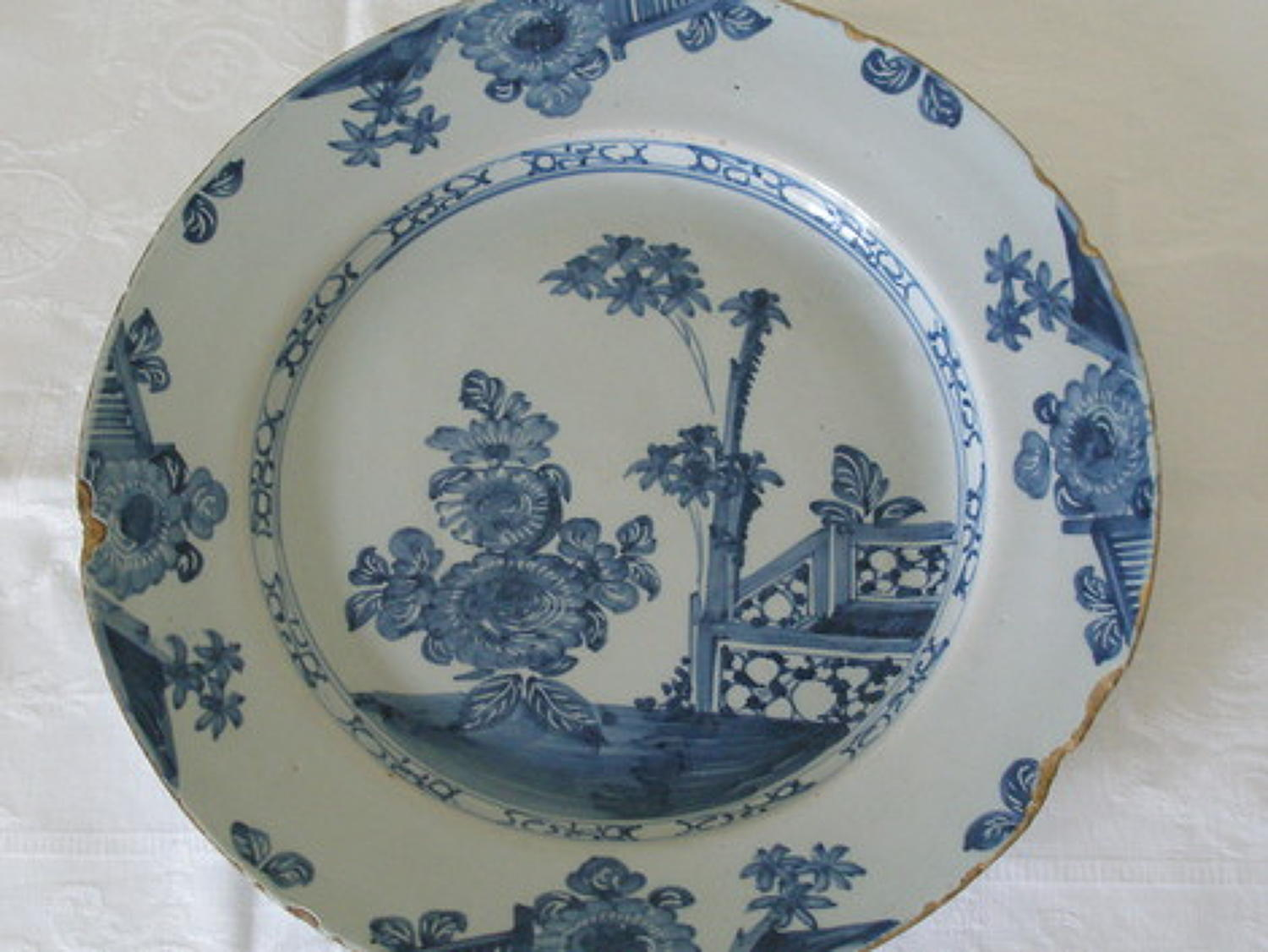 English 18th Delft charger