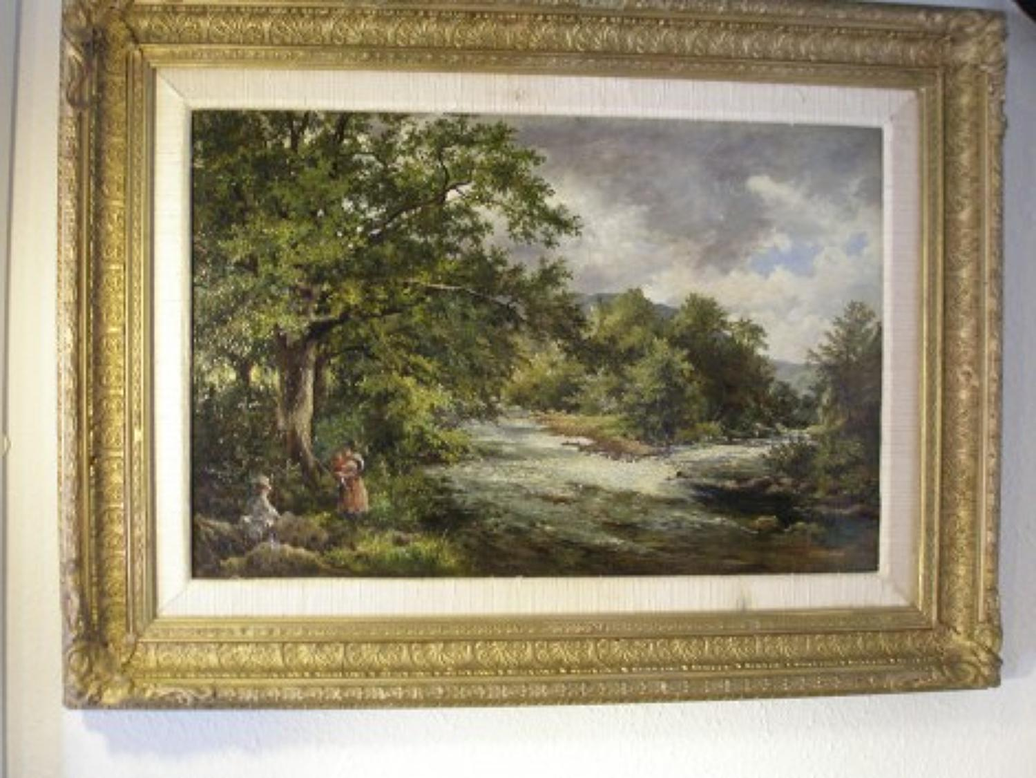 English Landscape dated 1875