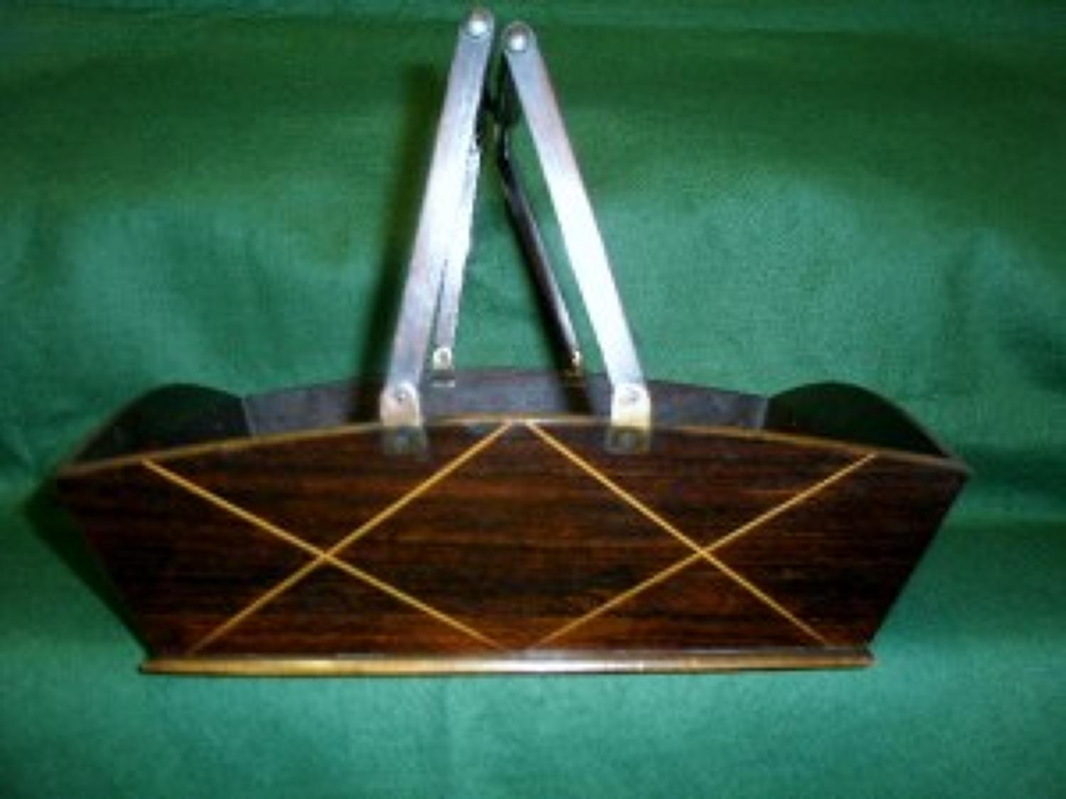 Regency period rosewood sewing tray