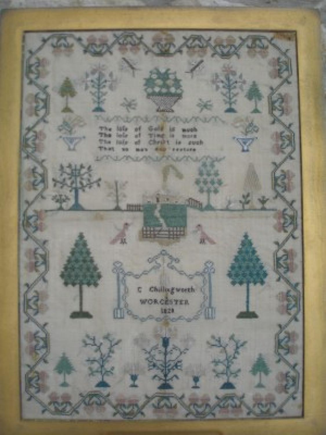 Sampler - Worcester 1828 C Chillingworth