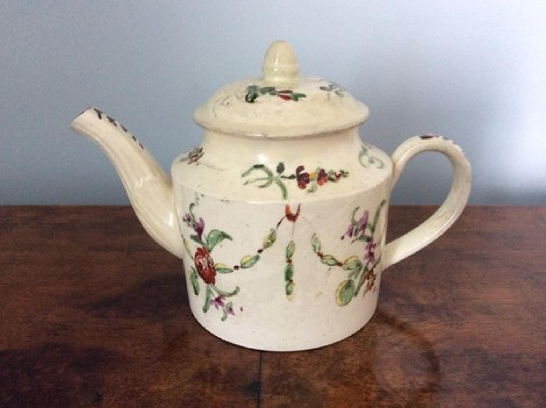 18th century creamware miniature teapot