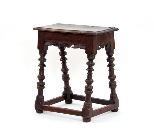 17th century English oak joint stool