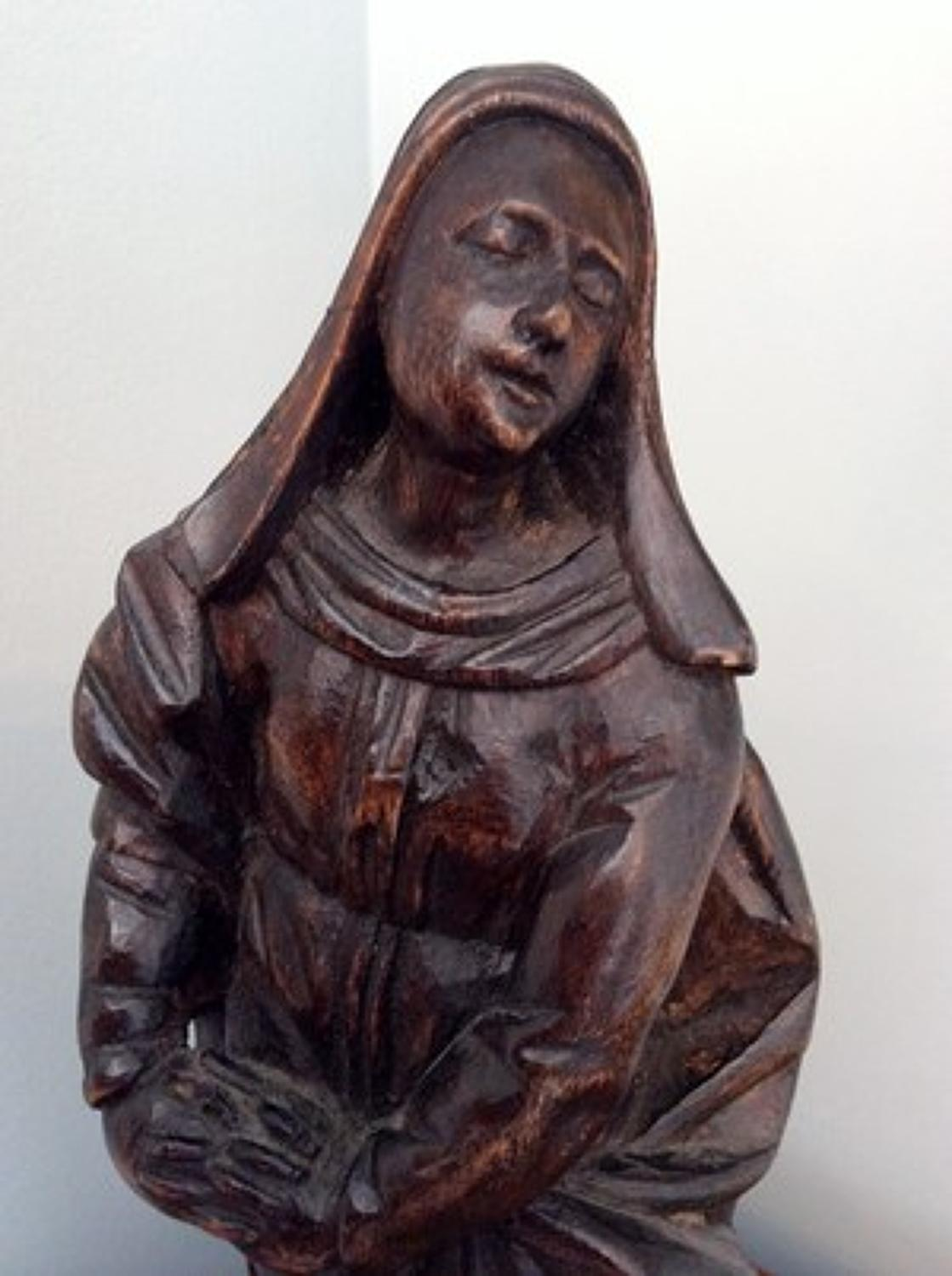 17th century limewood carved figure