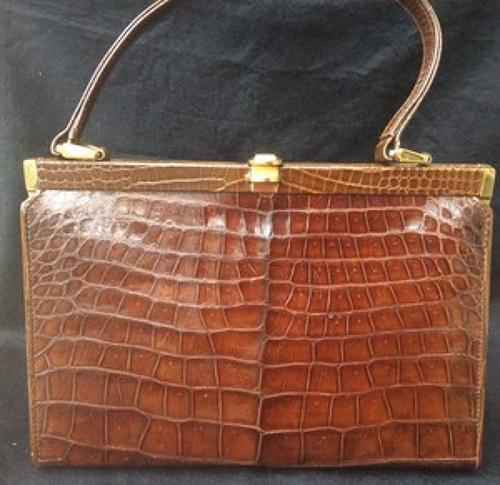 Vintage crocodile handbag 1960s
