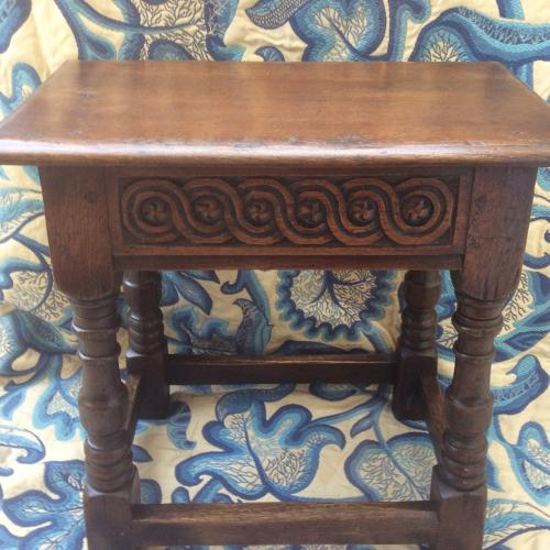 Late 17th century English oak joint stool
