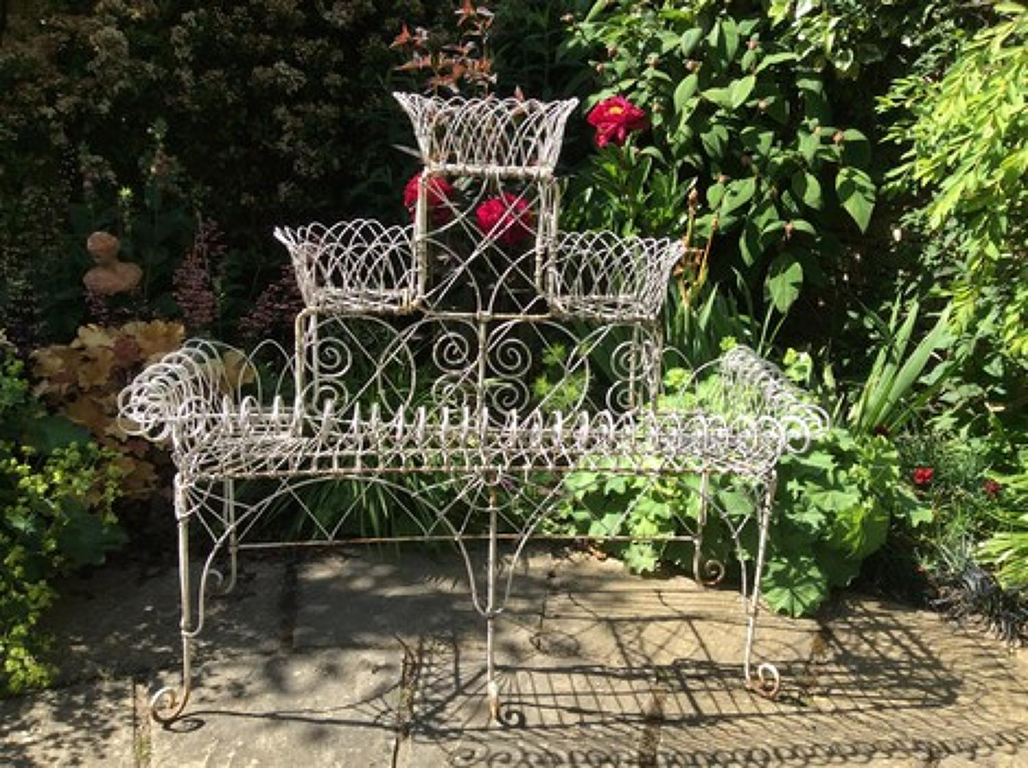 Iron work conservatory plant stand
