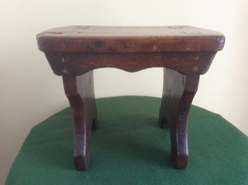 19th century Country oak stool