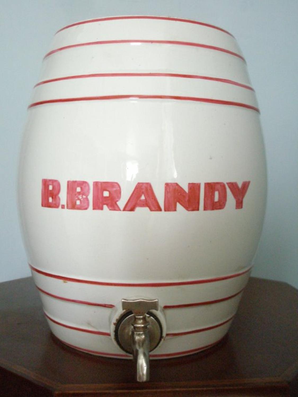 Best brandy ceramic 19th Century barrel