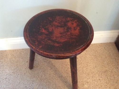 19th century stool in original paint