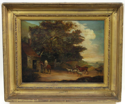Early 19th century naive landscape