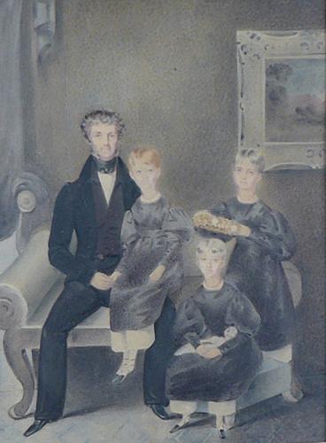 Naive 19th century naive waterclour