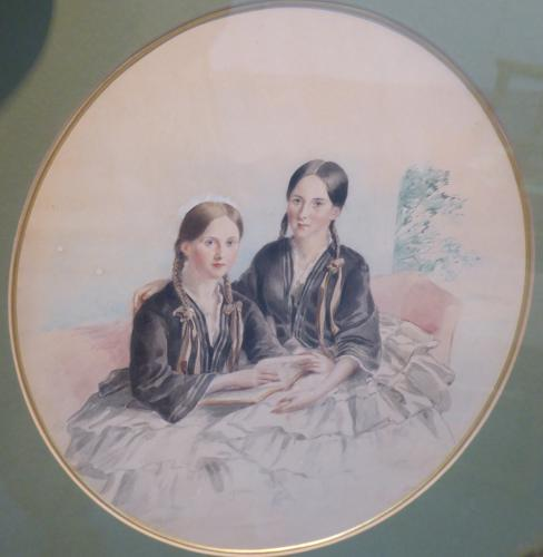 J B Bird - The Turton sisters c1860