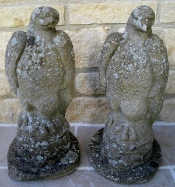 Pair of decorative Eagle garden figures