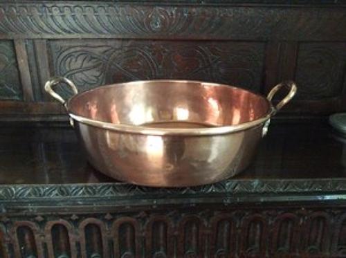 19th century copper preserve pan
