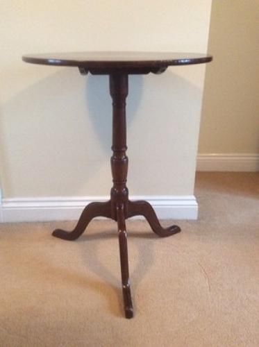 George III tripod lamp table