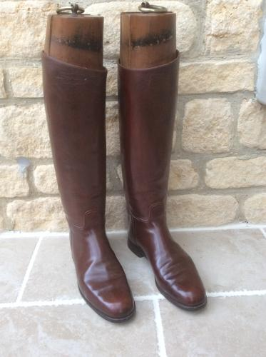 Vintage leather military/riding boots