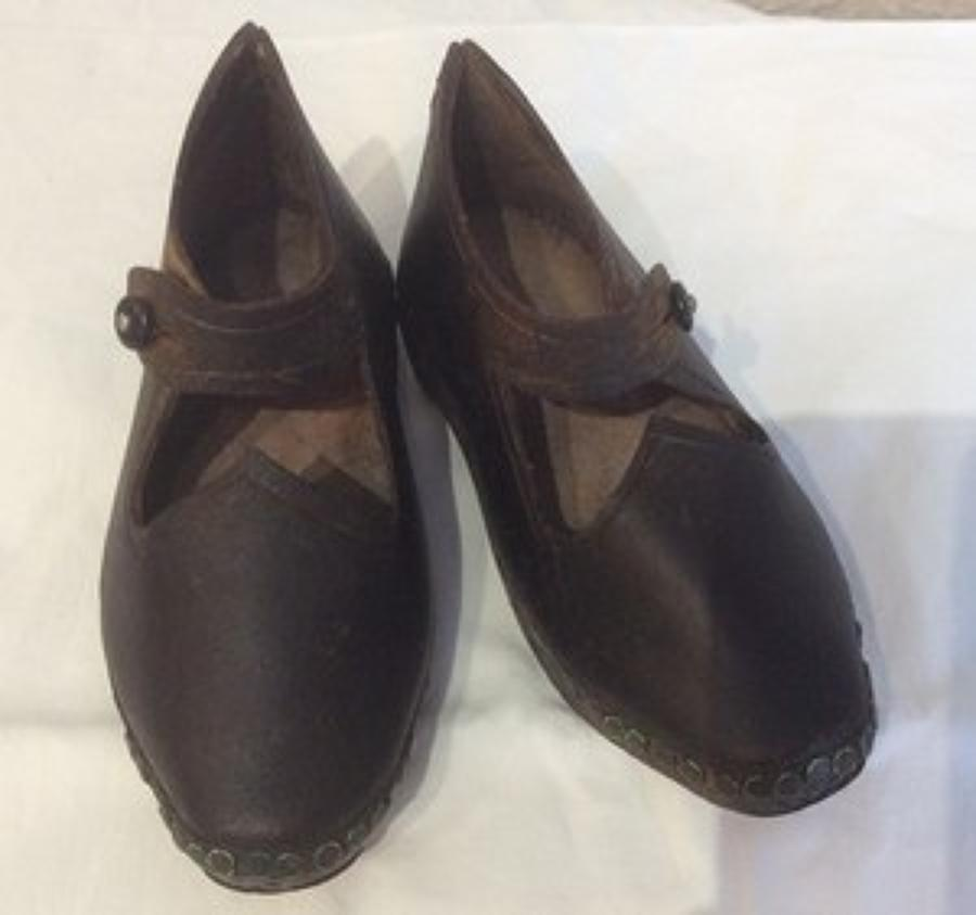 Pair of child's north Country cloggs
