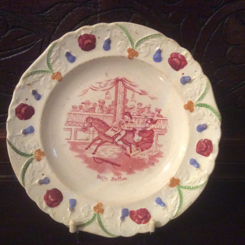 Staffordshire nursery plate
