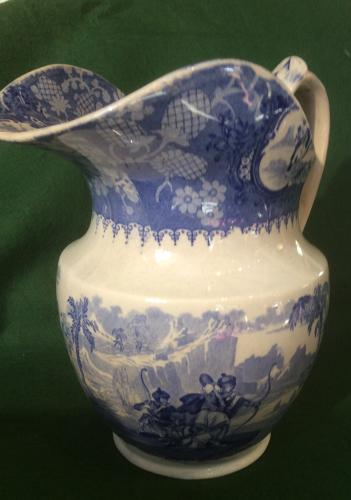 19th century blue and white ewer