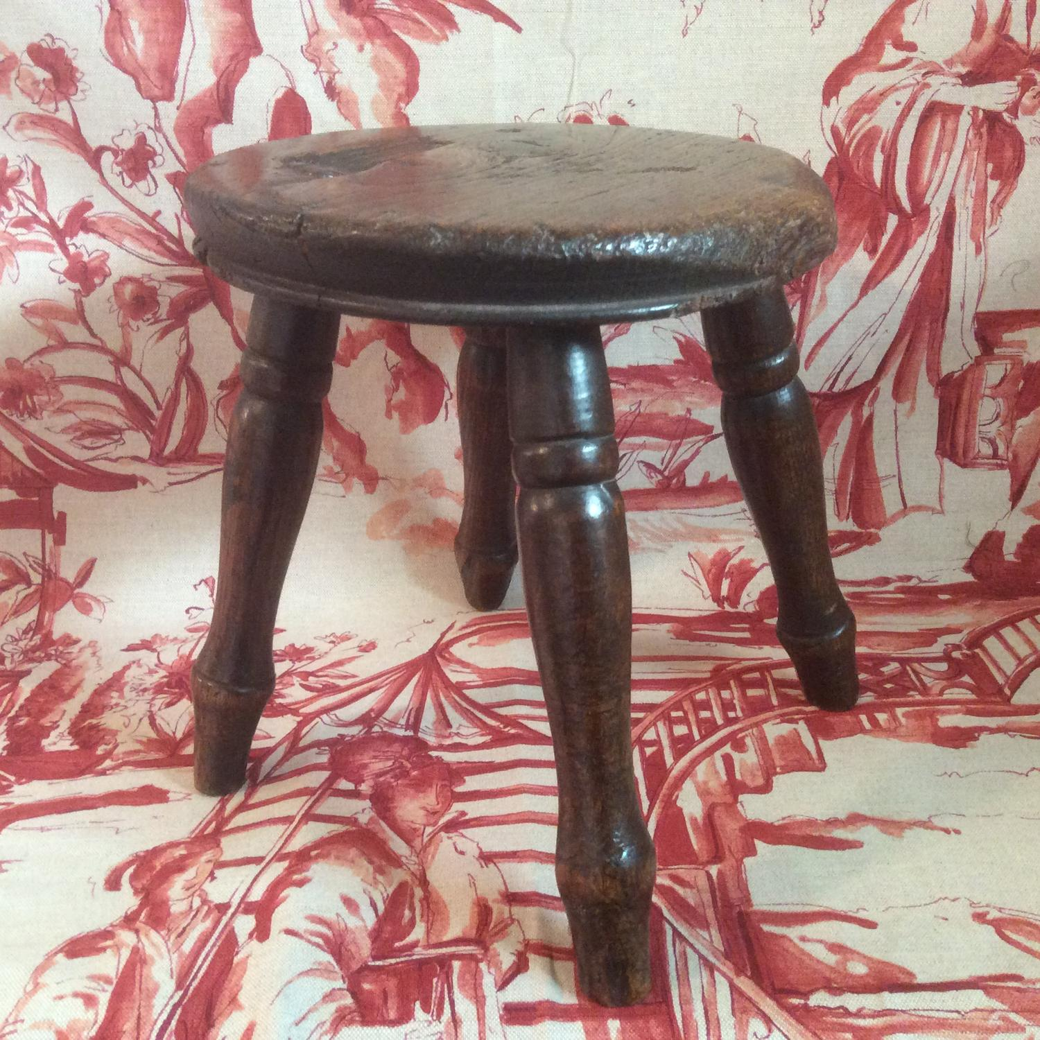 Late 19th century/early 20th milking stool
