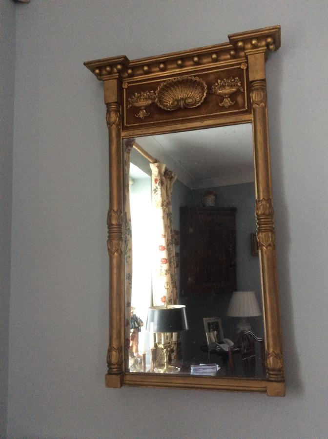 Regency wall mirror