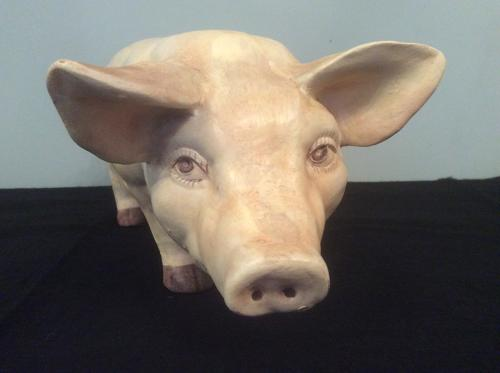Butcher's shop pig