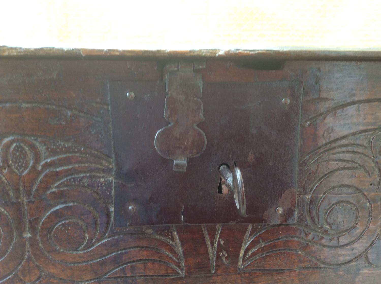 17th century oak bible box