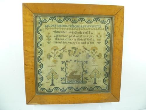 19th century needlework sampler