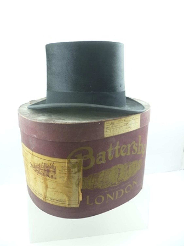 Vintage silk top hat